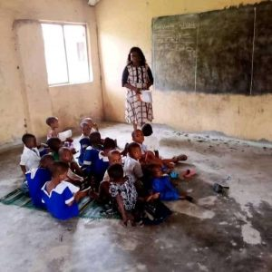 Pupils are still seating on the floor in Rivers state Despite Governor Wike noise on development