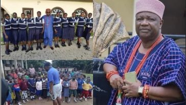 Nigerian King built school, Students not paying school Fees, hostel and he teaches in the school