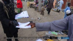 Boko Haram/ISWAP terrorists share fliers to residents in Borno, says Nigeria Army is their enemy