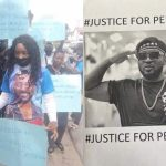 #Bbnaija fake eviction: Let our vote count - PERE's fans storm street in a solidarity protest