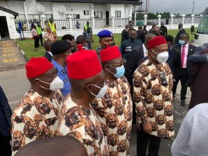 Photo News: President Buhari arrives Imo Airport, received by Government officials