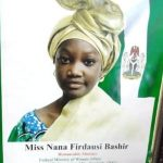One Day Minister: 12 year old Nana Firdausi takeover office as Nigeria's Minister of Women Affairs